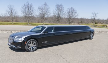YC Limo Black and Charcoal Chrysler 300 Limousine Exterior