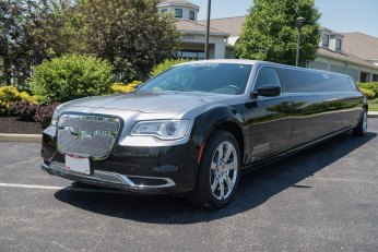 YC Limo Black and Silver Chrysler 300 Limousine Exterior